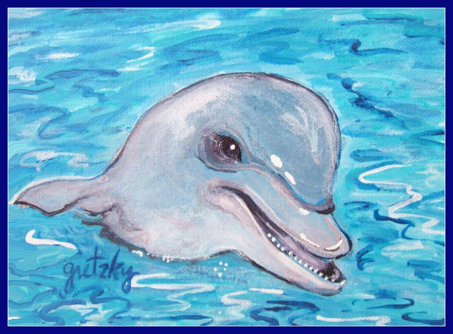 Dolphin 2 Painting