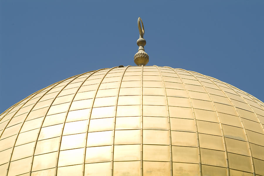 Dome Of The Rock With Its Golden Dome Photograph