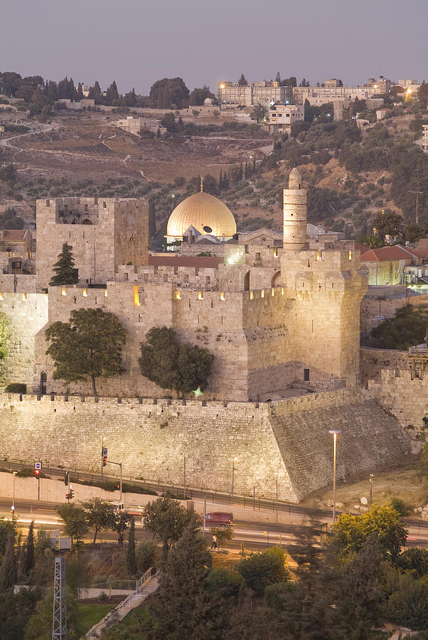 Dome Of The Rock With Tower Of David Photograph