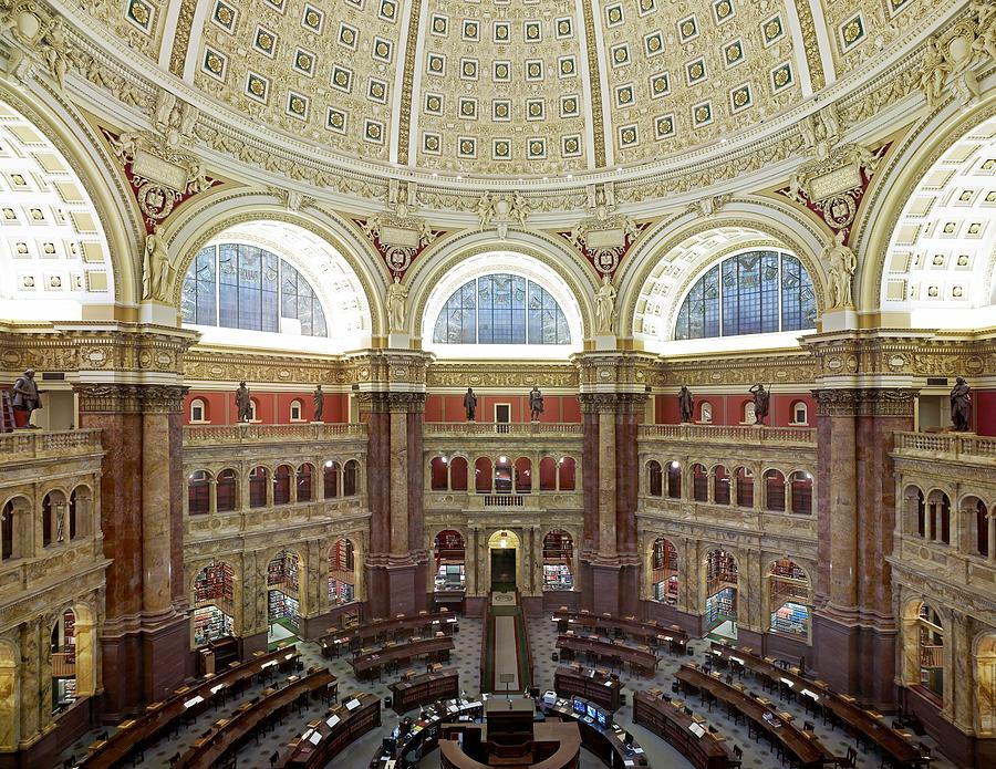 Domed Main Reading Room Photograph