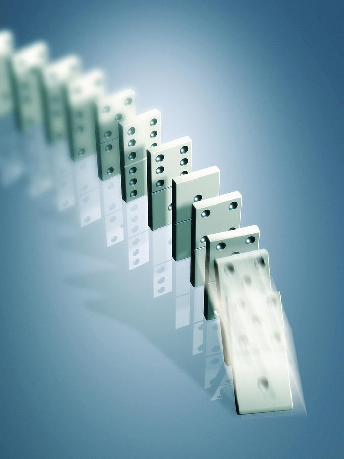 Domino Effect Photograph