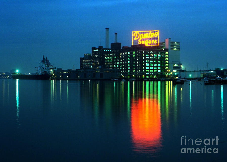 Domino Sugars Baltimore Maryland 1984 Photograph  - Domino Sugars Baltimore Maryland 1984 Fine Art Print