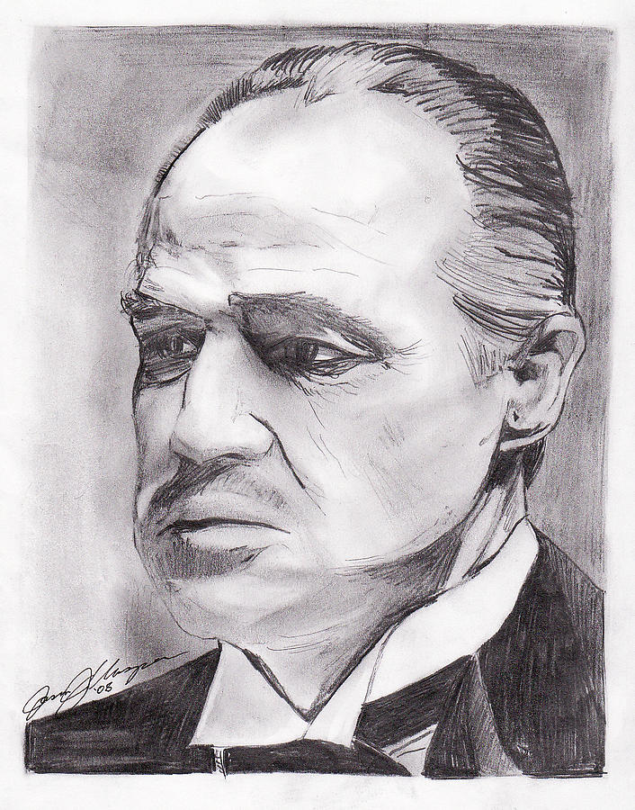 Don Corleone Drawing