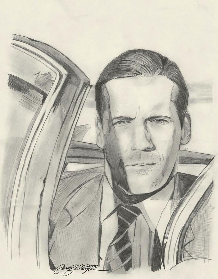 Don Draper Drawing  - Don Draper Fine Art Print