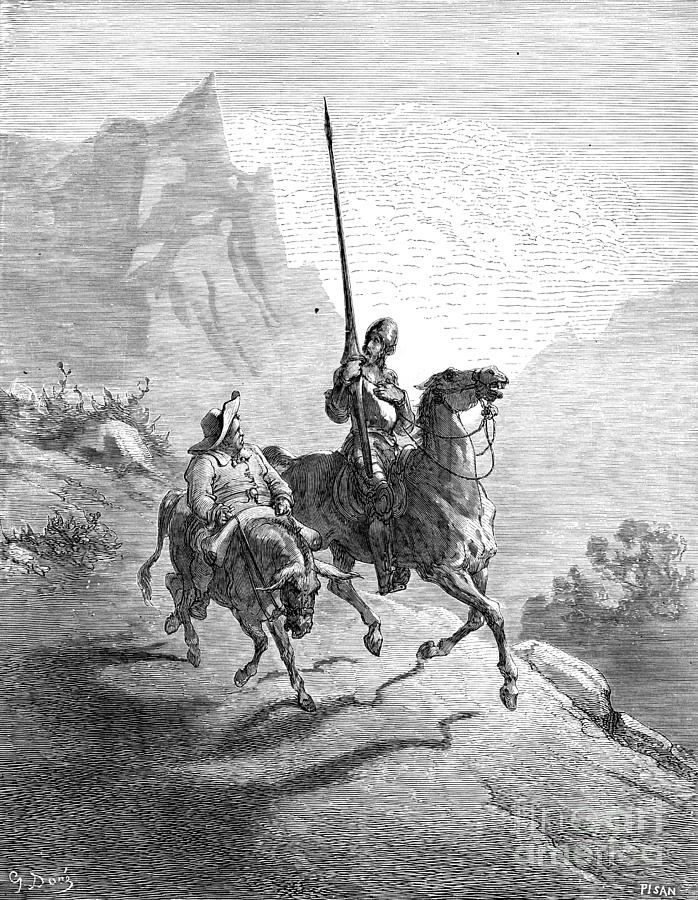 Don Quixote And Sancho Photograph