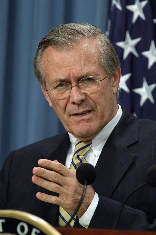Donald H. Rumsfeld Secretary Of Defense Photograph  - Donald H. Rumsfeld Secretary Of Defense Fine Art Print
