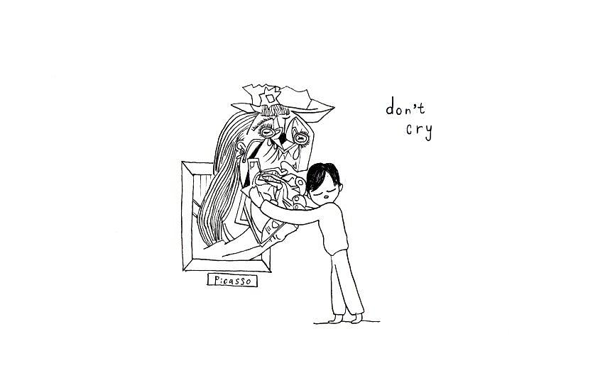 Dont Cry Drawing