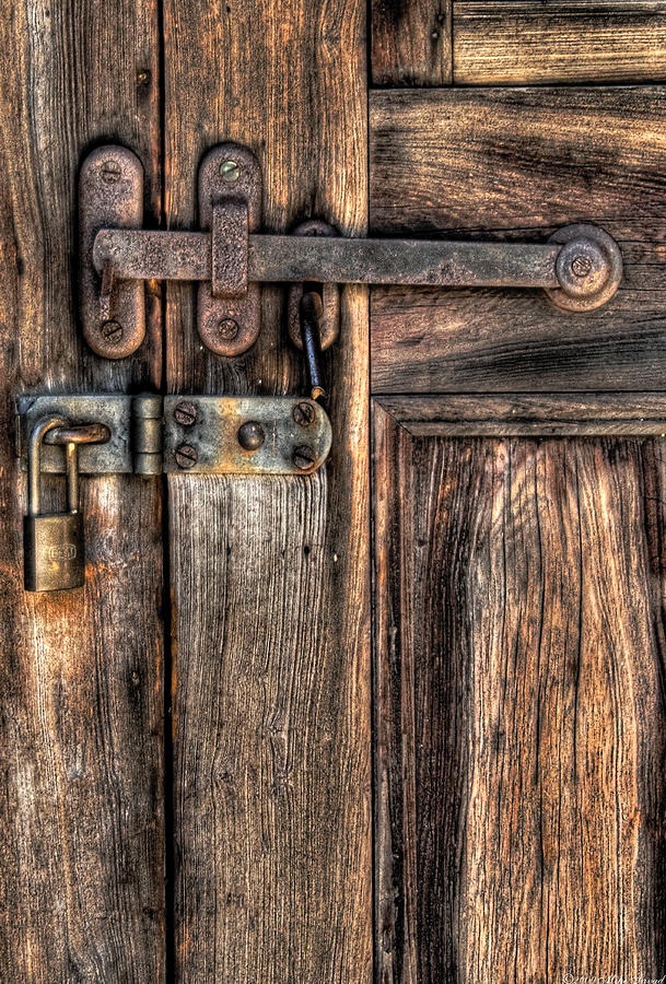 Door - The Latch Photograph  - Door - The Latch Fine Art Print