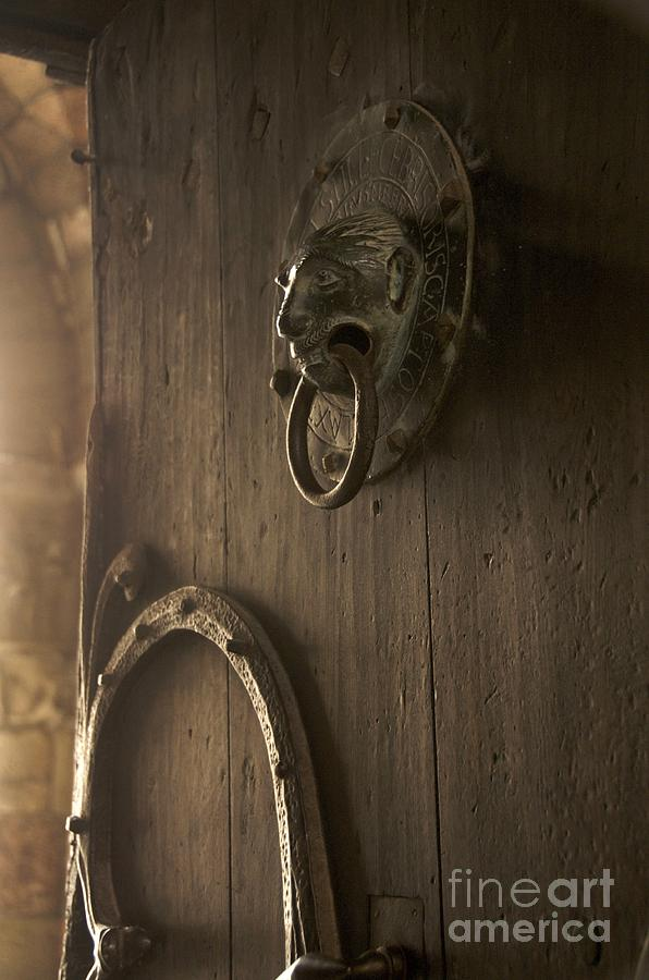 Door Knocker Of The Basilica Saint-julien. Brioude. Haute Loire. Auvergne. France. Photograph