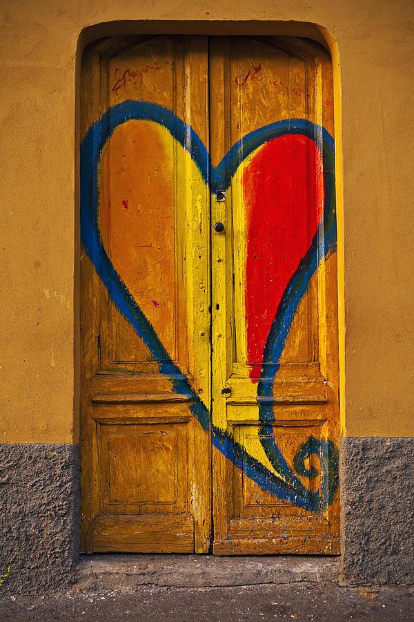 Door With Heart Photograph