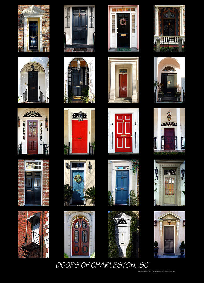 Doors Of Charleston Sc Photograph  - Doors Of Charleston Sc Fine Art Print