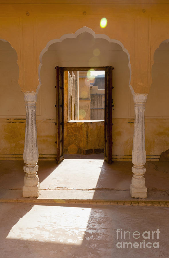 Doorway And Arch In The Amber Fort Photograph