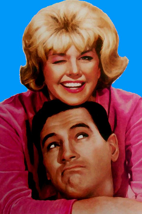 Doris Day Rock Hudson  Mixed Media  - Doris Day Rock Hudson  Fine Art Print