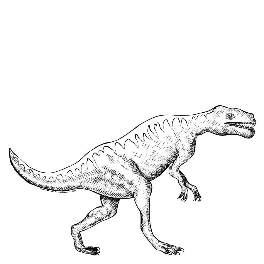 Dorkosaurus - Dinosaur Drawing