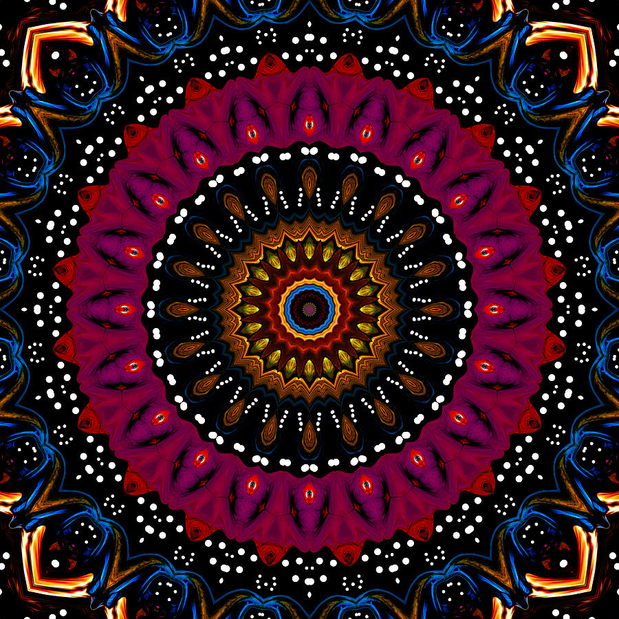Dotted Wishes No. 5 Kaleidoscope Digital Art  - Dotted Wishes No. 5 Kaleidoscope Fine Art Print