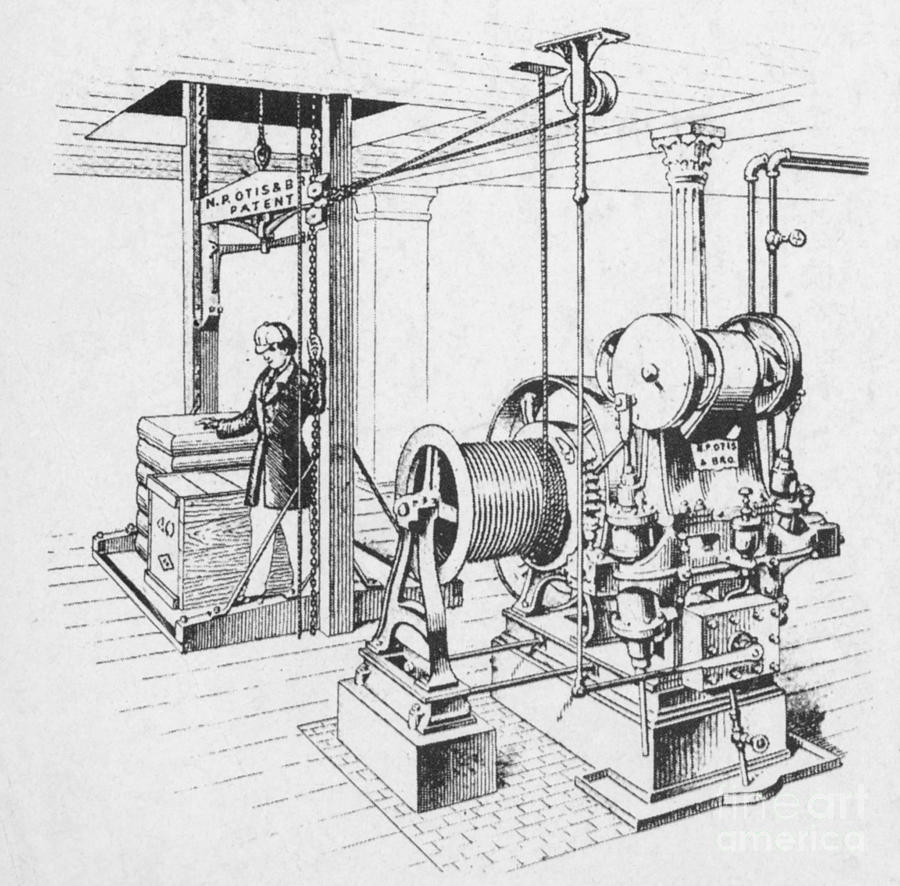 Double Oscillating Steam Engine Photograph