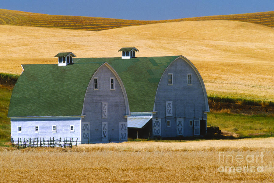 Double Palouse Barns I Photograph  - Double Palouse Barns I Fine Art Print