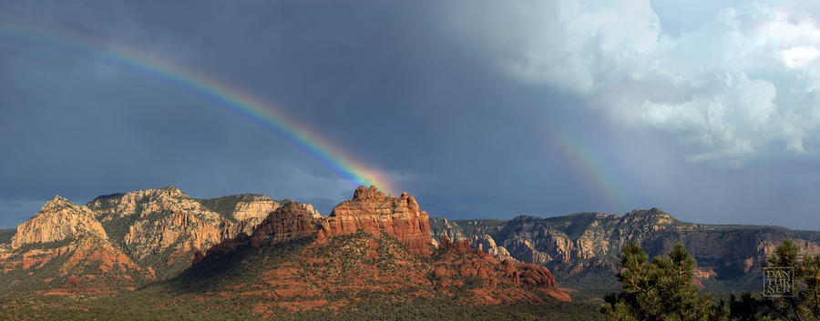 Double Rainbow Over Sedona Digital Art