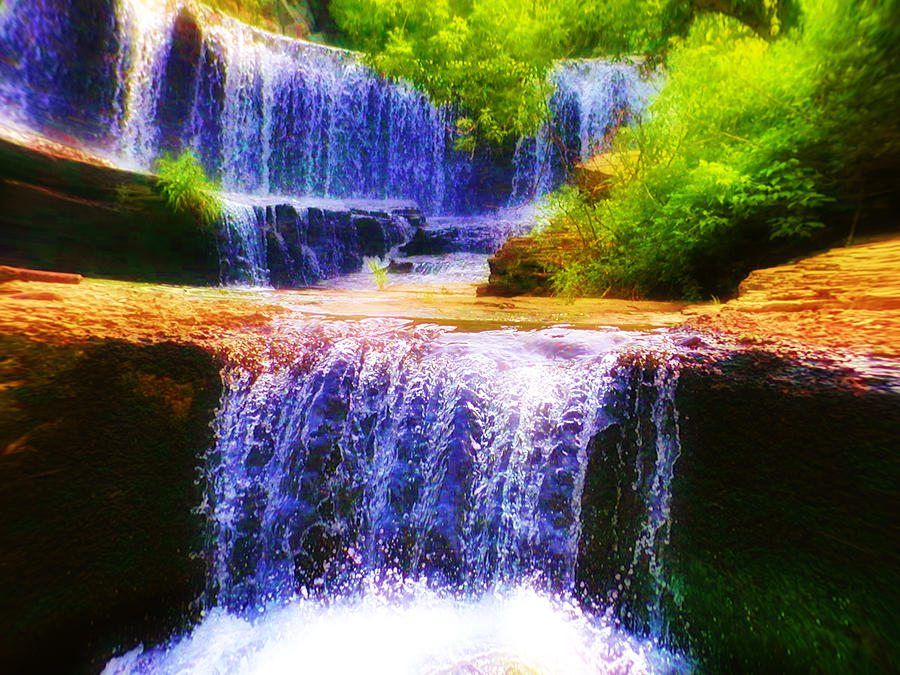 Double Waterfall Photograph