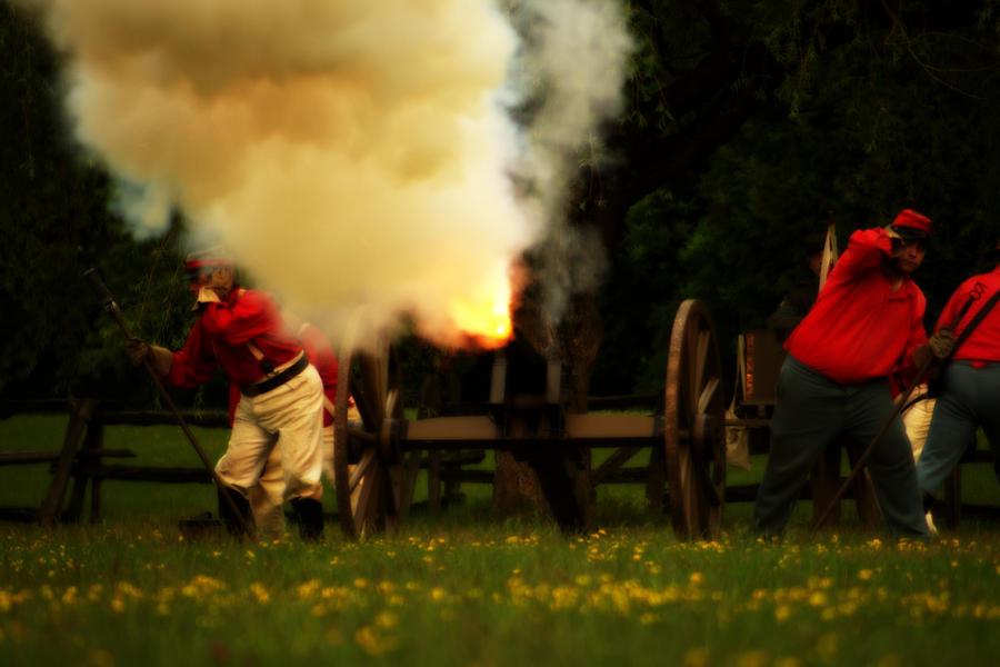 Artillery Photograph - Downrange Of The Cannon by Jonathan Bateman