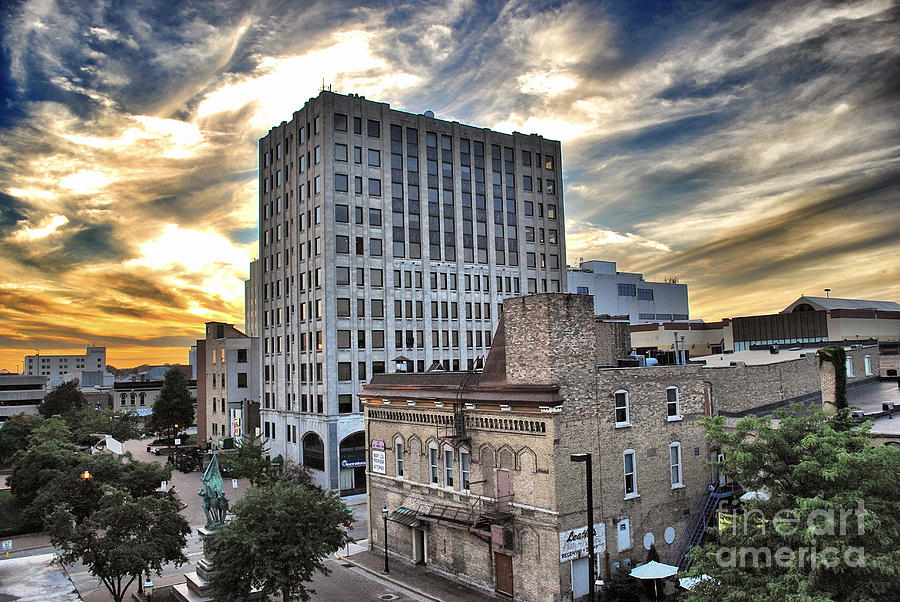 Downtown Appleton Skyline Photograph  - Downtown Appleton Skyline Fine Art Print