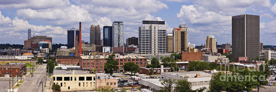 Downtown Birmingham Skyline Photograph