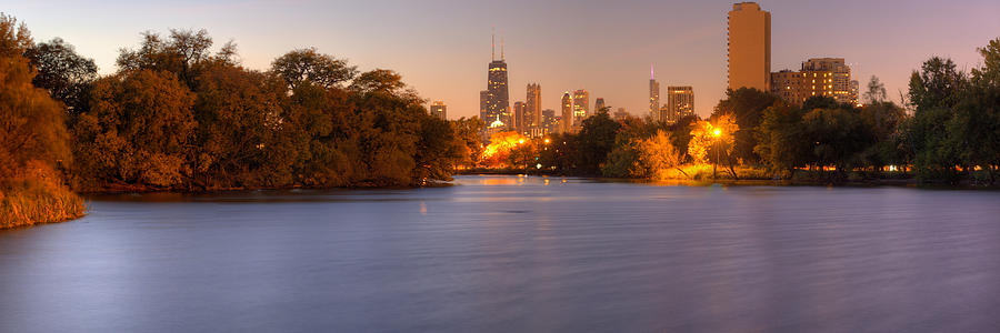 Downtown Chicago From Lincoln Park Photograph