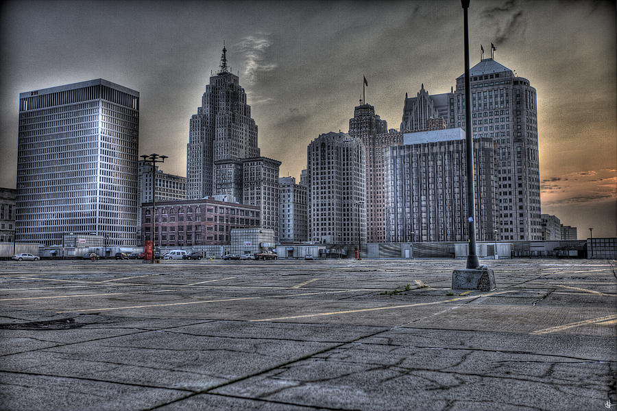 Downtown Detroit Mi Photograph
