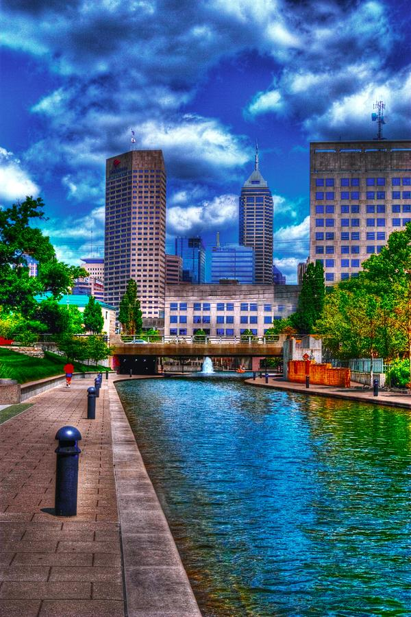 Downtown Indianapolis Canal Photograph