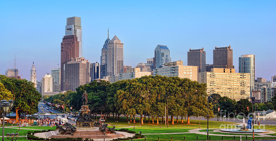 Downtown Philadelphia Skyline Photograph