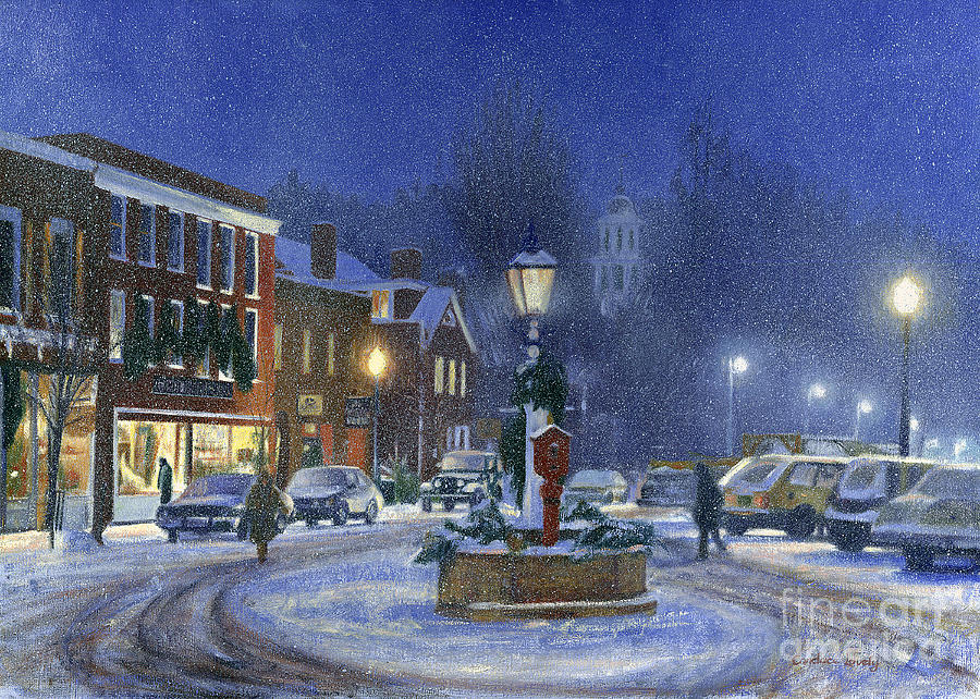 Downtown Woodstock Painting  - Downtown Woodstock Fine Art Print