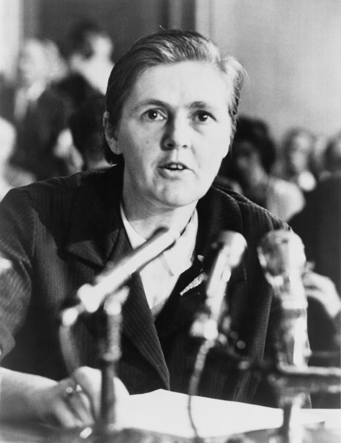 Dr. Frances O. Kelsey, A Food & Drug Photograph  - Dr. Frances O. Kelsey, A Food & Drug Fine Art Print