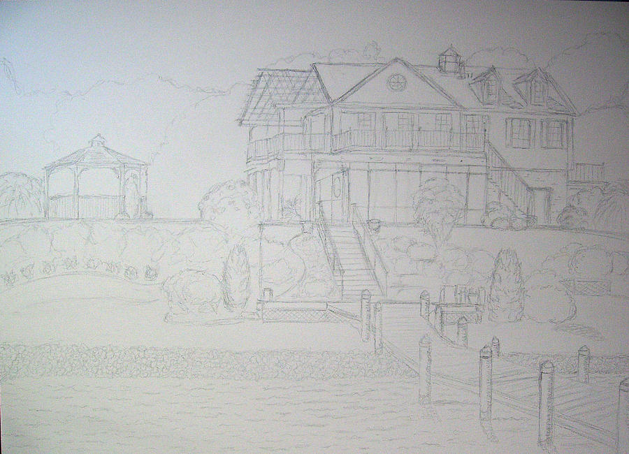 Dr. Hugos Summer Home Drawing