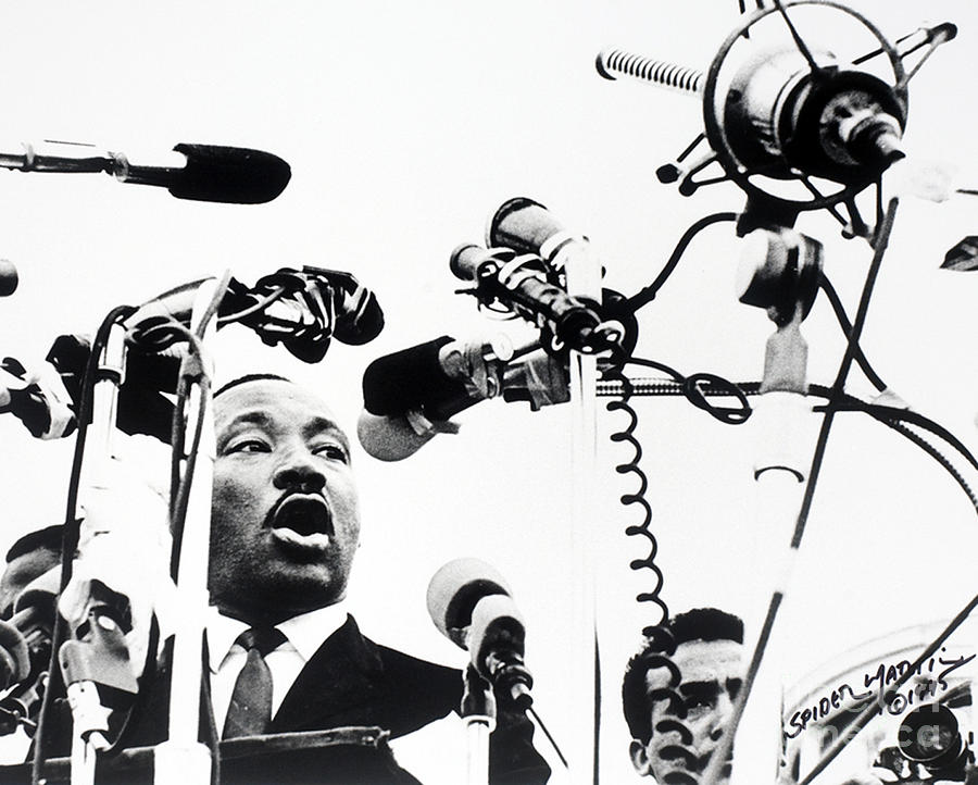 Dr King Delivering His Speech Photograph  - Dr King Delivering His Speech Fine Art Print