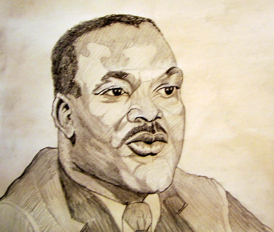 Dr. Martin Luther King Jr. Drawing  - Dr. Martin Luther King Jr. Fine Art Print
