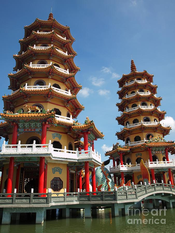 Dragon And Tiger Pagodas In Taiwan Photograph