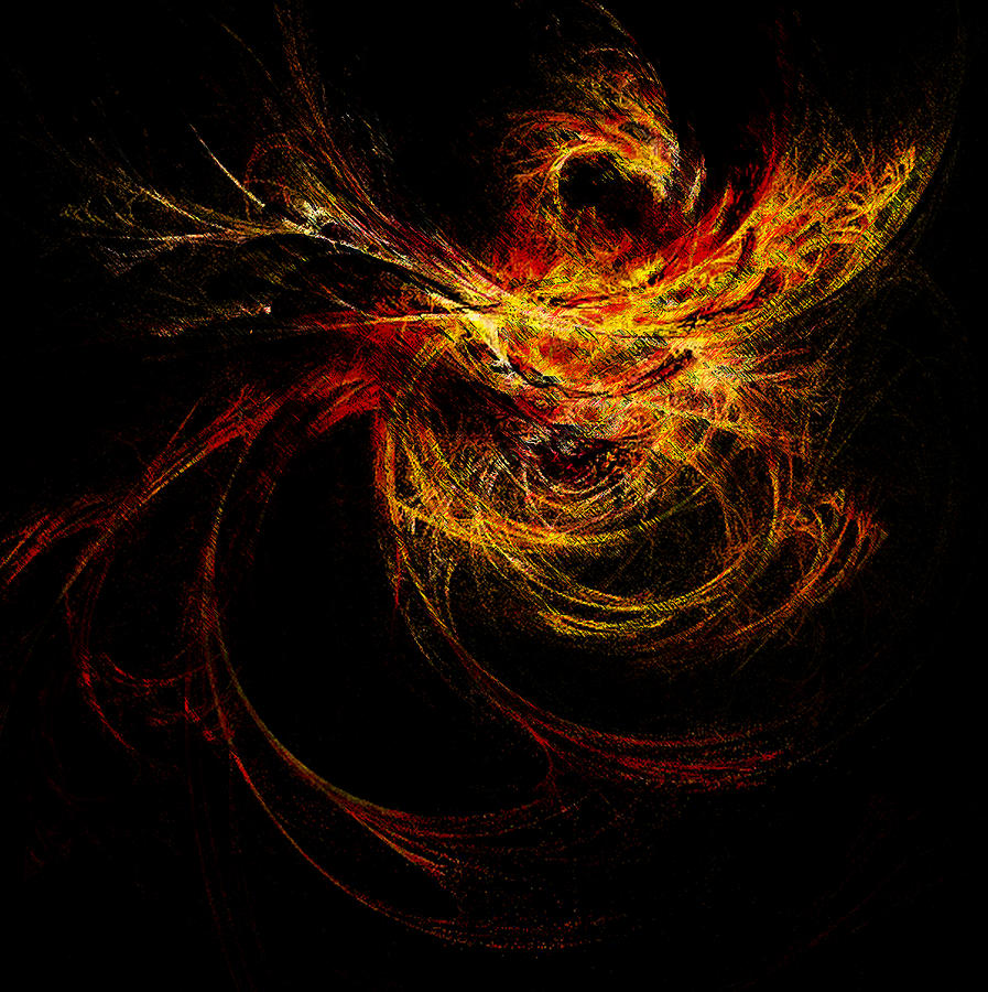 Dragon Fire Digital Art  - Dragon Fire Fine Art Print