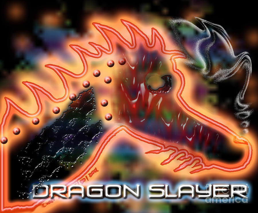 Dragon Slayer Digital Art  - Dragon Slayer Fine Art Print