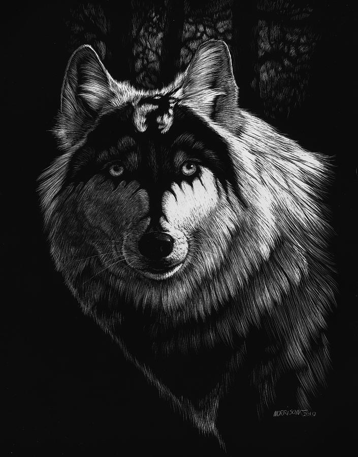 Dragon Wolf Painting  - Dragon Wolf Fine Art Print
