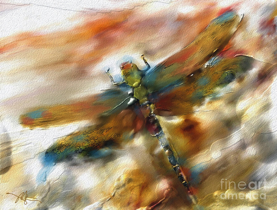 Dragonfly Painting  - Dragonfly Fine Art Print