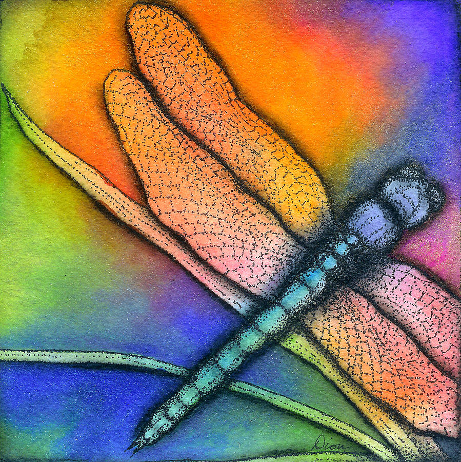 Dragonfly Mixed Media  - Dragonfly Fine Art Print