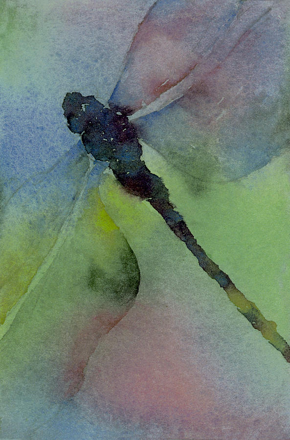 Dragonfly In Flight Painting  - Dragonfly In Flight Fine Art Print