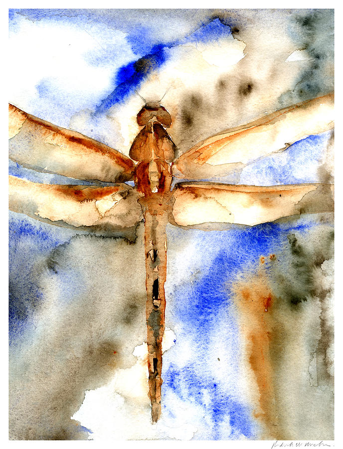 Dragonfly Of Happiness Painting