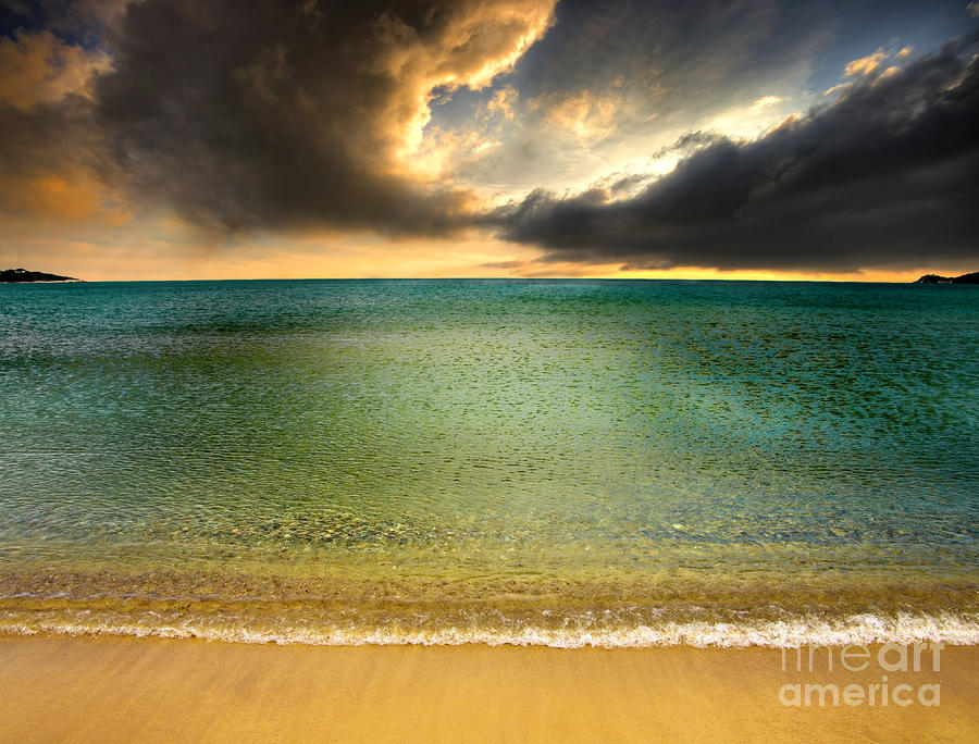 Drama At The Beach Photograph  - Drama At The Beach Fine Art Print