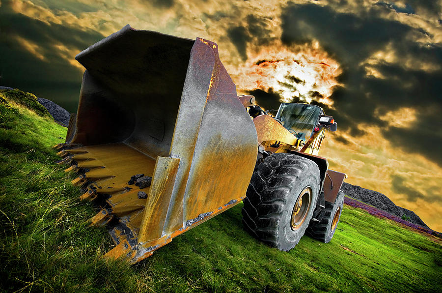 Dramatic Loader Photograph  - Dramatic Loader Fine Art Print