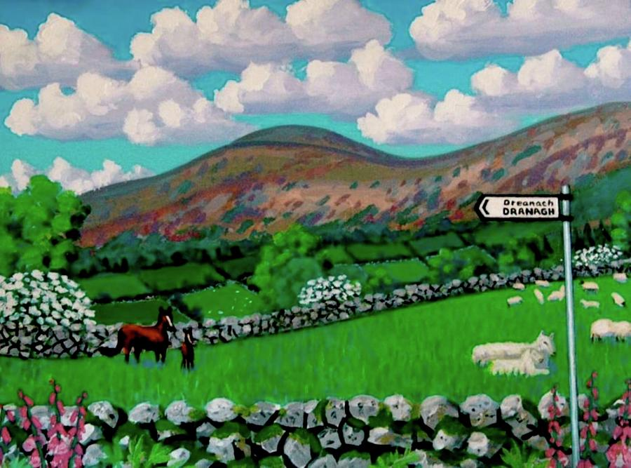 Landscape Painting - Dranagh Lane by Frank Strasser