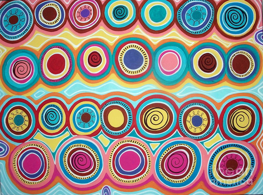 Dream Circles Painting  - Dream Circles Fine Art Print