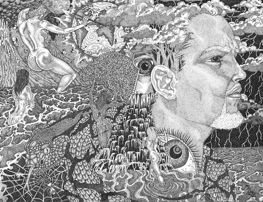Image result for stippling ink drawings