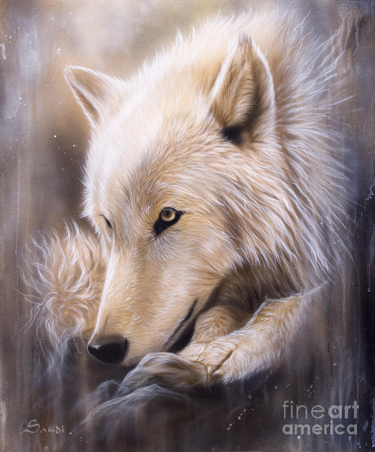 Dreamscape - Wolf Painting