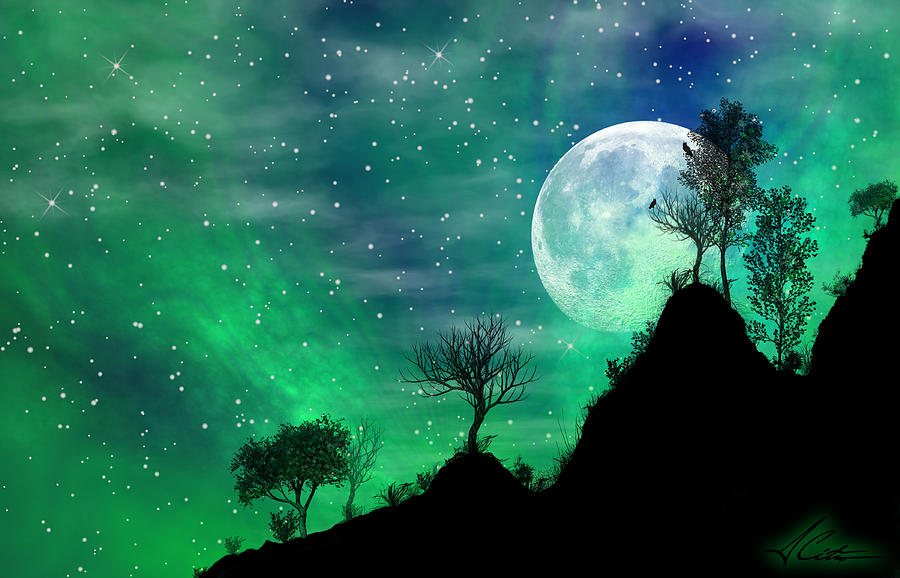 Dreamy Night Digital Art  - Dreamy Night Fine Art Print